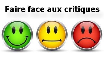 faire face aux critiques